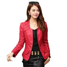 details about plus size pu leather jacket women casual long sleeve short coat