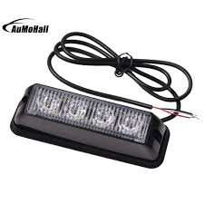 C7 Strobe Lights Us 10 5 25 Off 4 Led Emergency Vehicle Side Marker Grille Flash Strobe Light 4w Sidemarker Lights Red White In Car Light Assembly From Automobiles