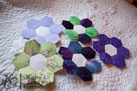 Paper Piecing Flower English Paper Piecing Video Tutorials