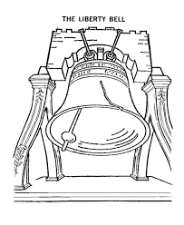 Usa Printables The Liberty Bell Coloring Pages American Symbols