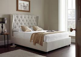 Ottoman Bedroom Symphony Upholstered Winged Ottoman Storage Bed Natural