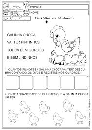 Resultado de imagem para GALINHA CHOCA ATIVIDADES