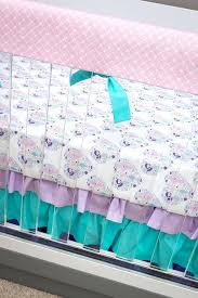 mermaid crib bedding baby girl
