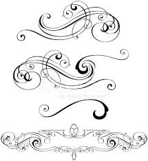 Scroll Designs Stock Vector Freeimages Com