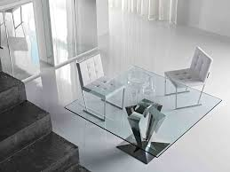 Dining Room glamorous wood glass dining table and chairs Wooden
