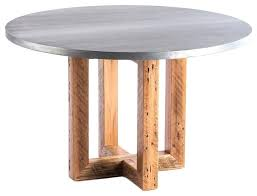 the zinc top dining table diameter railway trestle round industrial tables