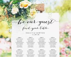 Wedding Seating Chart Seating Chart Poster Seating Chart Etsy