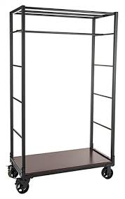 Industrial Wheeled Garment Display Rack With Clothing Rod ...