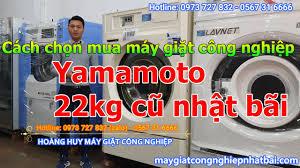 Cách chọn mua máy giặt công nghiệp Yamamoto 22kg, 30kg, 35kg, 50kg cũ nhật  bãi - YouTube