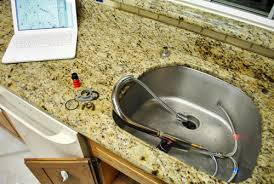 kitchen reno removing our sink our old granite counters young