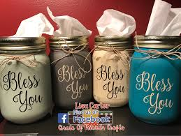 Crafts With Mason Jars Mason Jar Tissue Holder Bless You Tissue Jar Tissue Holder