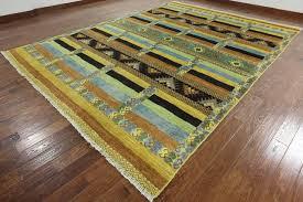 10x14 tribal handmade wool gabbeh area rug p5283 southwestern area rugs by manhattan rugs