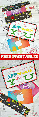 Need a super quick and easy teacher appreciation gift idea for the end of the year? Free Printables Teacher Appreciation The 36th Avenue