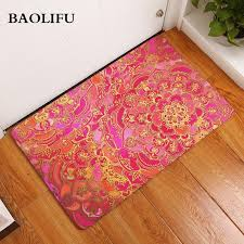 durable 40 60cm mandala door mats flannel rainbow color lotus fl rugs anti slip 40 60cm bedroom carpet bedside foot pads d19010902 carpet mohawk multi