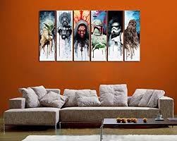 4star wars characters grunge panel art on star wars canvas panel wall art with list of seven awesome star wars panel wall art sets