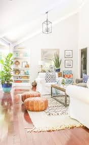 How To Buy Leather Moroccan Poufs On The Cheap Boho Leather Delectable Pinterest Living Room Ideas
