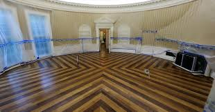 The empty Oval Office Check out scenes from the White Houses