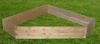 5 sided corner raised garden bed