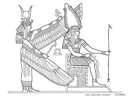 エジプト絵画の塗り絵の下絵画像