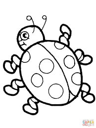 Small Picture Cute Ladybug coloring page Free Printable Coloring Pages