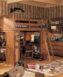 Pine Log Bedroom Furniture Kids Cabin Theme Bedrooms Rustic Decor