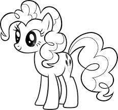 Print Out Coloring Birthday Cards Pony