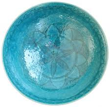 Turquoise Decorative Bowl Large Turquoise Ceramic Bowl Afghanistan Far Wide Collective 88