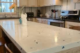 good white concrete countertop