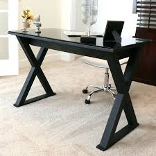 office table with glass top. Black Glass Top Desk Interior Design Computer Office . Table With