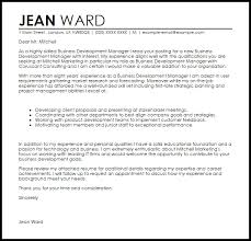 Cover Letter Business Development Cover Letter Format And Bussines