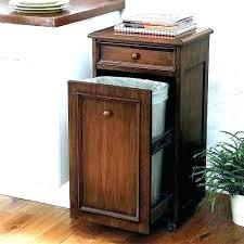 kitchen garbage wood tilt out trash cabinet kitchen garbage can bin 2 wooden plans c kitchen