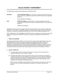 Agent Agreement Template Free