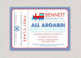 Invitation Ticket Template Gorgeous Train Ticket Invitation Template TvorzaspCom