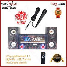 Dàn Âm Thanh Tại Gia - Dàn Âm Thanh Tại Nhà Hát Karaoke Có Kết Nối  Bluetooth SKYNEW SK-345 Siêu Bass Hai Kênh 2.1