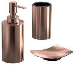 Rose Gold Three Piece Bathroom Accessory Set Contemporary Bathroom Accessory Sets By Thebathoutlet Houzz