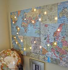 diy office. Office-Ideas-DIY-Wall-Map-Vintage Diy Office