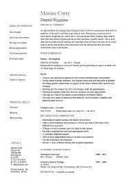 Resume For Dental Hygienist Simple Dentist Resume Dental Resumes Examples Hygiene Registered Hygienist