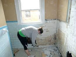 removing wall tile tile removing bathroom tile adhesive