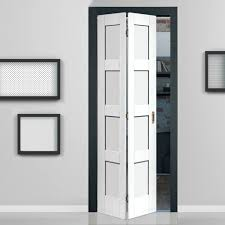 Shaker White Primed  Panel Bifold Door Doors And Interior Door - Bifold exterior glass doors
