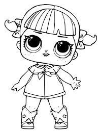 Black And White Coloring Pages Free Printable Lol Surprise Dolls