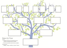 Family Tree Picture Template Free Family Tree Template To Print Google Search Blank