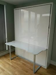 modern wall bed. Modern Wall Bed Desk In Glossy White