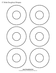 printable donut templates blank doughnut shapes donut printables