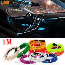 How To Install Lights In Car Interior Us 1 43 Ugooca 1 Meters Car Interior Lighting Auto Led Strip Garland El Wire Rope Tube Line Flexible Neon Light Auto Decorative Lights In Decorative