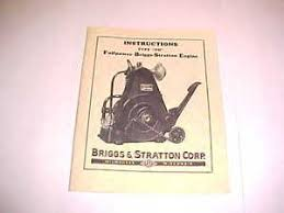 antique briggs amp stratton gas engine owners amp parts manual image is loading antique briggs amp stratton gas engine owners amp