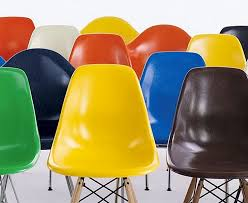 fiberglass shell chairs. the iconic eames molded chair is now available in recyclable fiberglass! | inhabitat - green design, innovation, architecture, building fiberglass shell chairs