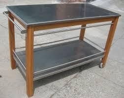 plywood raised door cherry pear stainless steel kitchen island cart