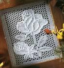Вязание скатерти крючком филейная сетка 155