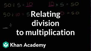 Relating Division To Multiplication Video Khan Academy