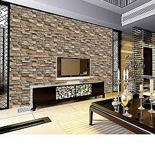3d wall paper brick stone rustic effect self adhesive wall sticker home decor s